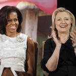 Michelle Obama y Hillary Clinton, dos de las tantas hackeadas