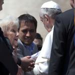 Carlotto y Cabandie fueron recibidos por el Papa