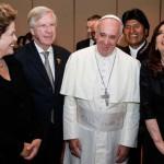 Cristina e Insaurralde visitaron al Papa en Brasil