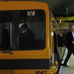 Rodeado de seguridad y con choferes suplentes, Macri inauguró las estaciones del Subte B