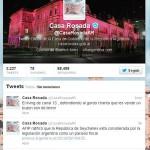 La Rosada denuncia hackeo de su Twitter