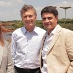 Macri visitó tierras del massista Giustozzi