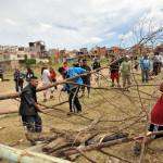Continúa la tensión por la toma de tierras linderas al Indoamericano
