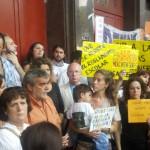 Marcha y pedido de interpelación por falta de vacantes y aulas container