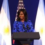 Michelle, con discurso feminista y motivador en el sur de la ciudad