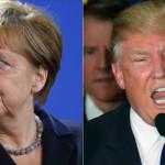 Por el debate sobre los refugiados, Trump y Merkel atraviesan su primer enfrentamiento