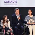Macri anunció un Plan Nacional de Discapacidad para promover el acceso a la salud y al empleo