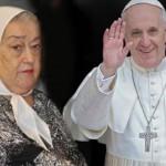 Tras ser procesada, Hebe recibió el apoyo del Papa Francisco