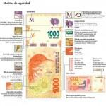 Atenti: Las medidas de seguridad de los nuevos billetes de mil pesos que ya circulan