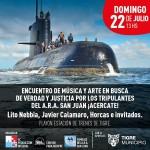 """Los familiares del A.R.A. San Juan y el Municipio de Tigre convocan a festival en reclamo de  """"Verdad y la Justicia"""" para los tripulantes desaparecidos"""