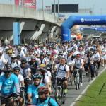 Banco saludable: La bicicleateada del Ciudad reunió a más de 4 mil personas en Palermo