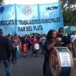 Paro y protesta de municipales en Mar del Plata por reclamo salarial