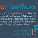Peronistas se reúnen para pedir a la Justicia que frene los tarifazos