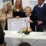 La vicepresidenta de Abuelas recibió la Mención de Honor Juana Azurduy :  Rosa Roisinblit