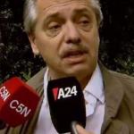 """""""Andá a trabajar de periodista"""", el enojo de Alberto por una pregunta sobre Cristina"""