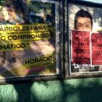"""Lammens denunció """"campaña sucia"""" porque taparon sus carteles con avisos de bandas que no existen"""