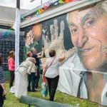 Santilli homenajeó a Carrizo con un mural turístico