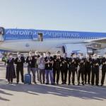 Llegó de China el primer avión de Aerolíneas con insumos médicos
