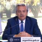 """Alberto Fernández: """"Nunca restringimos libertades, solo cuidamos salud de la gente"""". Extienden el aislamiento hasta el 30 e agosto"""