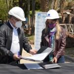 Malena Galmarini y Alberto Descalzo recorrieron una obra que beneficiará a 6.000 vecinos y vecinas de Ituzaingó